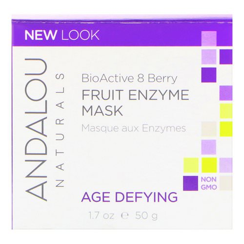 Andalou Naturals, Fruit Enzyme Mask, BioActive 8 Berry, Age Defying, 1.7 oz (50 g) Review
