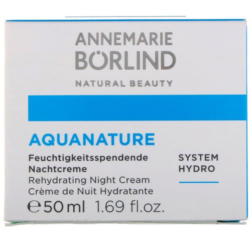 AnneMarie Borlind, AquaNature, Rehydrating Night Cream, 1.69 fl oz (50 ml) Review