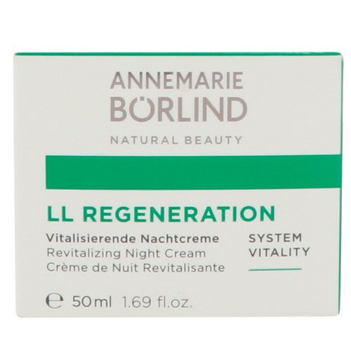 AnneMarie Borlind, LL Regeneration, Revitalizing Night Cream, 1.69 fl oz (50 ml) Review