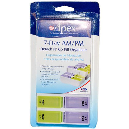 Apex, 7-Day AM/PM Detach N' Go, 1 Pill Organizer Review