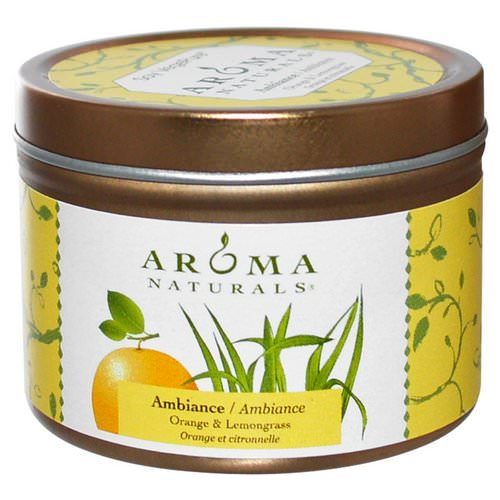 Aroma Naturals, Soy VegePure, Ambiance, Orange & Lemongrass, 2.8 oz (79.38 g) Review