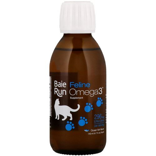 Ascenta, Baie Run, Feline Omega3 Supplement, Ocean Fish Flavor, 4.7 fl oz (140 ml) Review