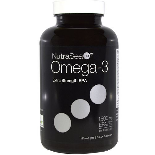 Ascenta, NutraSea hp, Omega-3, Extra Strength EPA, Lemon Flavor, 120 Softgels Review