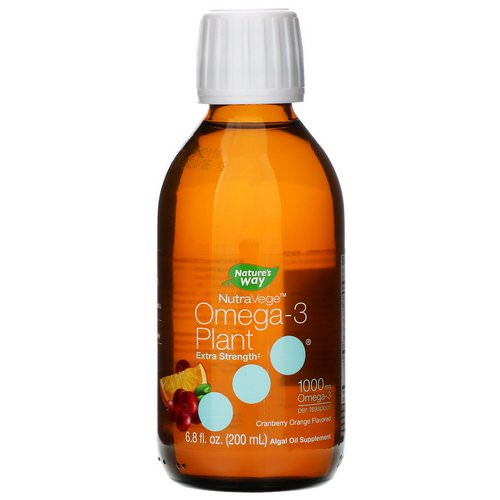 Ascenta, NutraVege, Omega-3 Plant, Extra Strength, Cranberry Orange Flavored, 1000 mg, 6.8 fl oz (200 ml) Review
