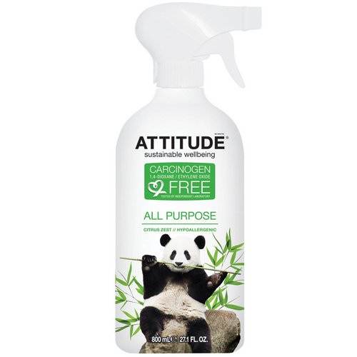 ATTITUDE, All Purpose, Citrus Zest, 27.1 fl oz (800 ml) Review