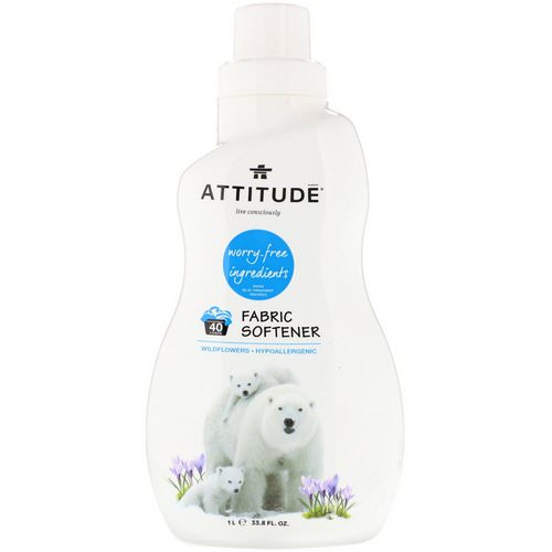 ATTITUDE, Fabric Softener, 40 Loads, Wildflowers, 33.8 fl oz (1 l) Review