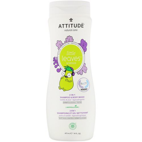 ATTITUDE, Little Leaves Science, 2-In-1 Shampoo & Body Wash, Vanilla & Pear, 16 fl oz (473 ml) Review