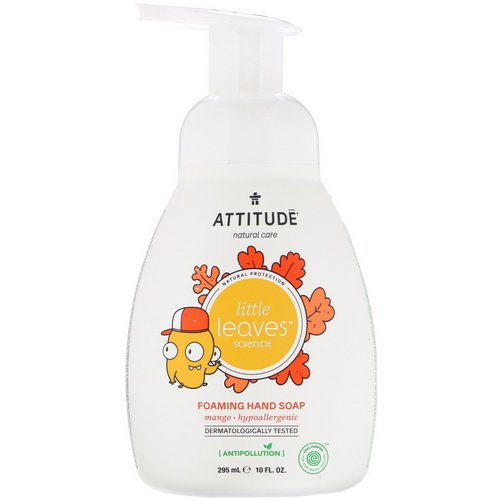 ATTITUDE, Little Leaves Science, Foaming Hand Soap, Mango, 10 fl oz (295 ml) Review