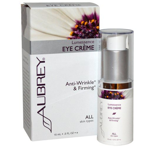 Aubrey Organics, Lumessence Eye Cream, All Skin Types, .5 fl oz (15 ml) Review