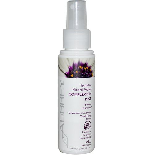 Aubrey Organics, Sparkling Mineral Water Complexion Mist, Grapefruit/Lavender Ylang Ylang Scent, 3.4 fl oz (100 ml) Review