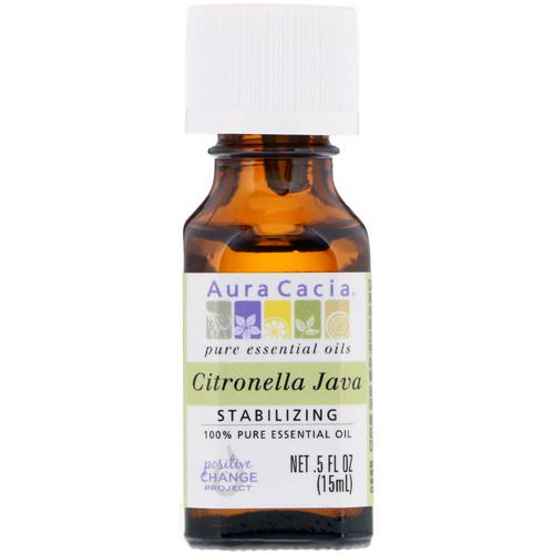 Aura Cacia, 100% Pure Essential Oil, Citronella Java, .5 fl oz (15 ml) Review