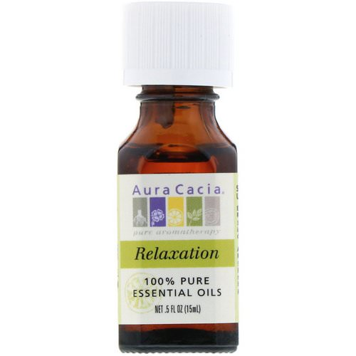 Aura Cacia, 100% Pure Essential Oils, Relaxation, .5 fl oz (15 ml) Review