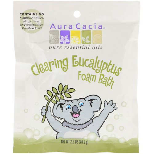 Aura Cacia, Clearing Foam Bath, Eucalyptus, 2.5 oz (70.9 g) Review