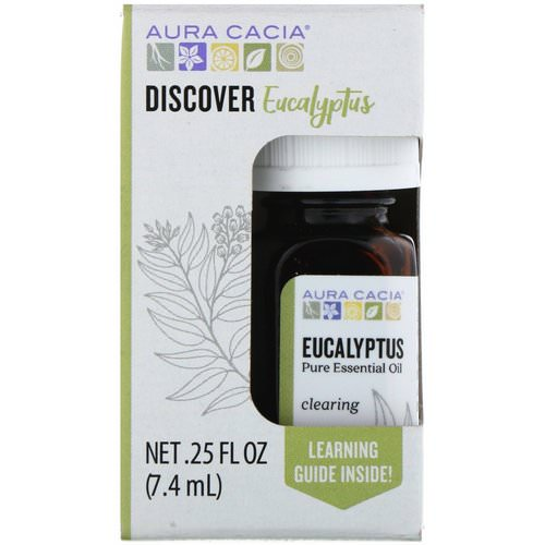 Aura Cacia, Discover Eucalyptus, Pure Essential Oil, .25 fl oz (7.4 ml) Review