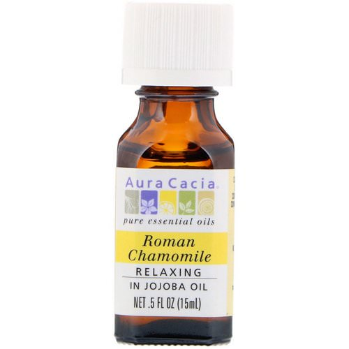 Aura Cacia, Pure Essential Oils, Roman Chamomile, Relaxing, .5 fl oz (15 ml) Review