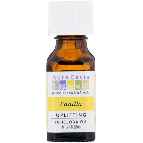 Aura Cacia, Pure Essential Oils, Vanilla, Uplifting, .5 fl oz (15 ml) Review
