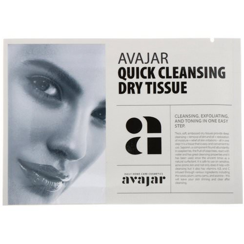 Avajar, Quick Cleansing Dry Tissue, 15 Tissues Review