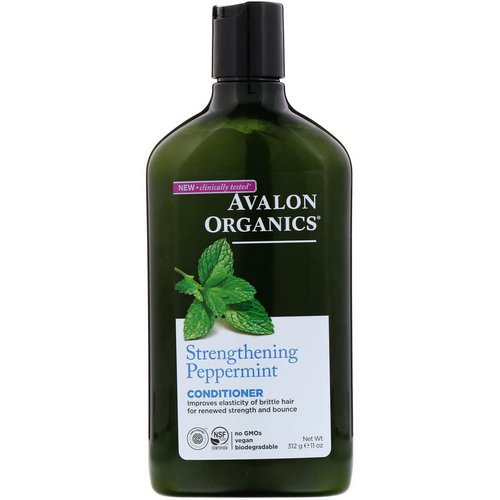 Avalon Organics, Conditioner, Strengthening Peppermint, 11 fl oz (312 ml) Review