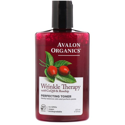 Avalon Organics, Wrinkle Therapy, With CoQ10 & Rosehip, Perfecting Toner, 8 fl oz (237 ml) Review