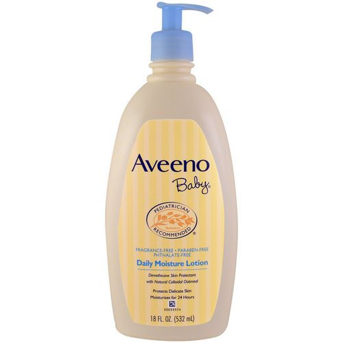 Aveeno, Baby, Daily Moisture Lotion, Fragrance Free, 18 fl oz (532 ml) Review