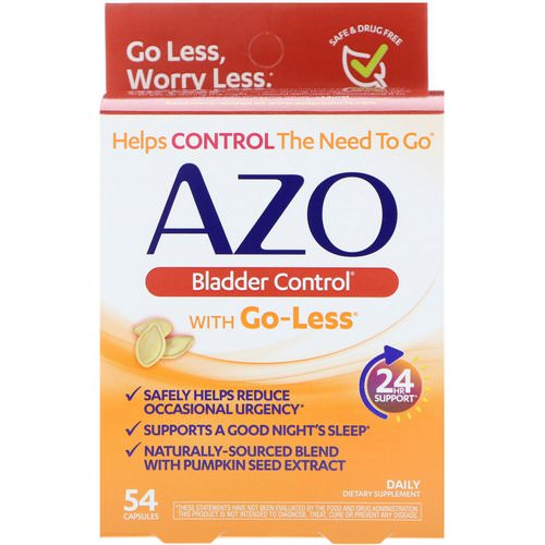 Azo, Bladder Control with Go-Less, 54 Capsules Review