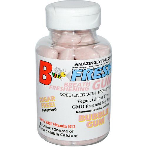 B-Fresh, Breath Freshening Gum, Bubble Gum, 50 Pieces Review