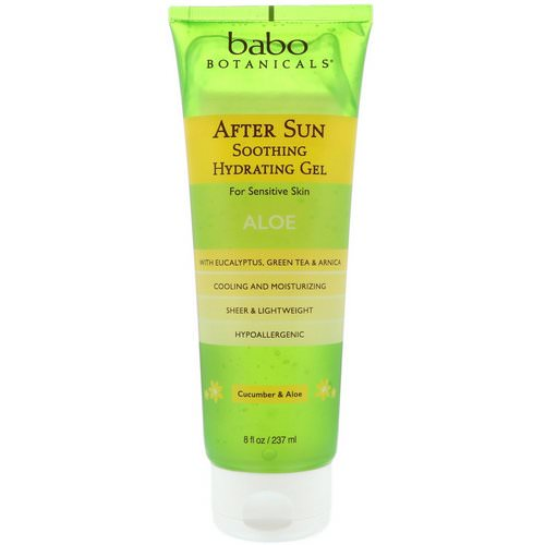 Babo Botanicals, After Sun, Soothing Hydrating Gel, Cucumber & Aloe, 8 fl oz (237 ml) Review