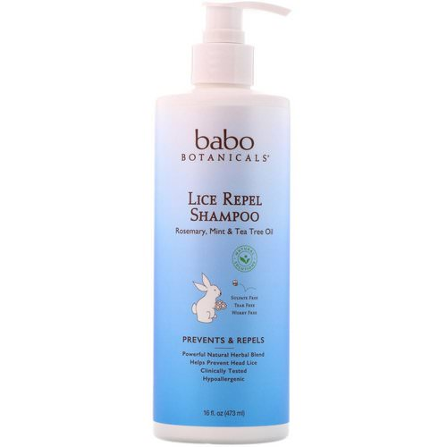 Babo Botanicals, Lice Repel Shampoo, 16 oz (473 ml) Review