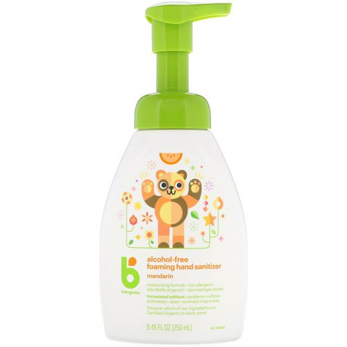 BabyGanics, Alcohol-Free, Foaming Hand Sanitizer, Mandarin, 8.45 fl oz (250 ml) Review