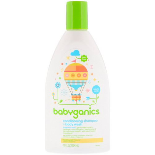 BabyGanics, Conditioning Shampoo + Body Wash, Fragrance Free, 12 fl oz (354 ml) Review