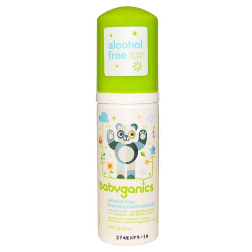 BabyGanics, Alcohol-Free, Foaming Hand Sanitizer, Fragrance-Free, 1.69 fl oz (50 ml) Review