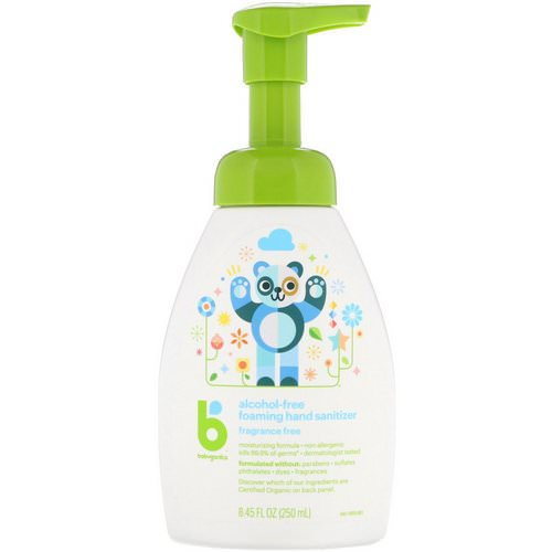 BabyGanics, Alcohol-Free, Foaming Hand Sanitizer, Fragrance Free, 8.45 fl oz (250 ml) Review