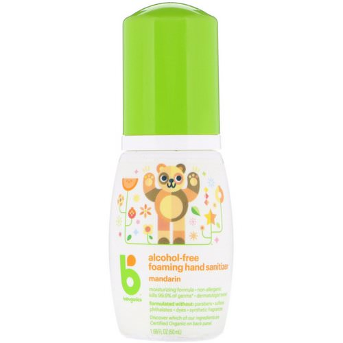 BabyGanics, Alcohol-Free, Foaming Hand Sanitizer, Mandarin, 1.69 oz (50 ml) Review