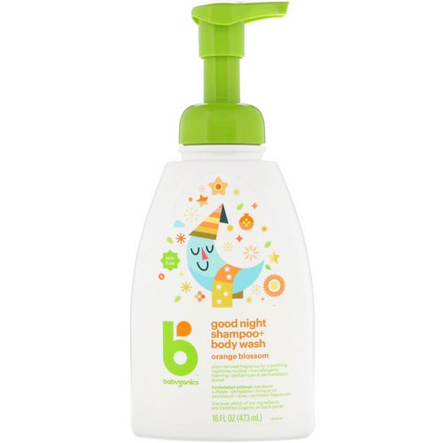 BabyGanics, Good Night Shampoo + Body Wash, Orange Blossom, 16 fl oz (473 ml) Review