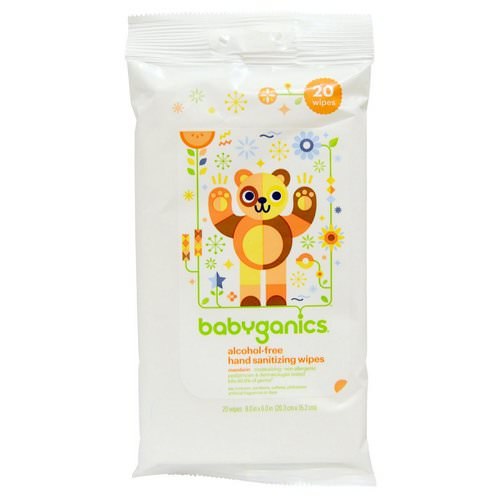 BabyGanics, Hand Sanitizing Wipes, Alcohol Free, Mandarin, 20 Wipes Review