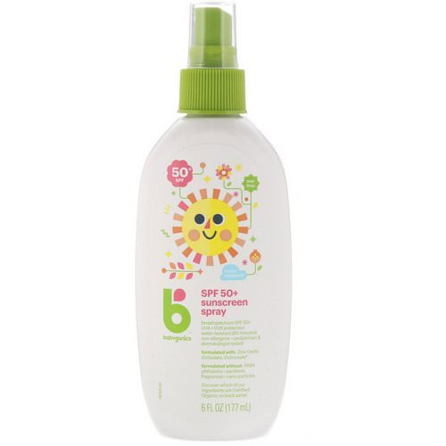 BabyGanics, Sunscreen Spray, 50+ SPF, 6 fl oz (177 ml) Review