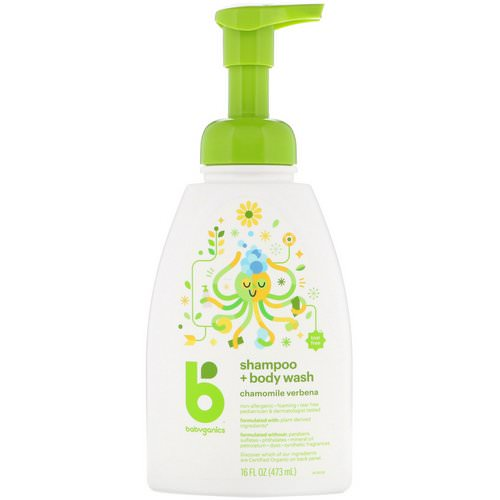 BabyGanics, Shampoo + Body Wash, Chamomile Verbena, 16 fl oz (473 ml) Review