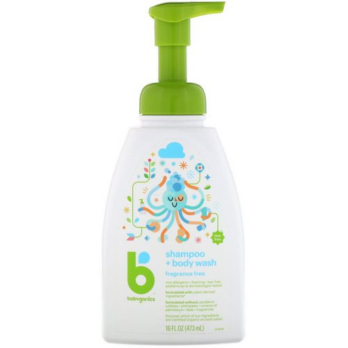 BabyGanics, Shampoo + Bodywash, Fragrance Free, 16 fl oz (473 ml) Review