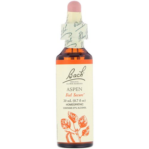 Bach, Original Flower Remedies, Aspen, 0.7 fl oz (20 ml) Review