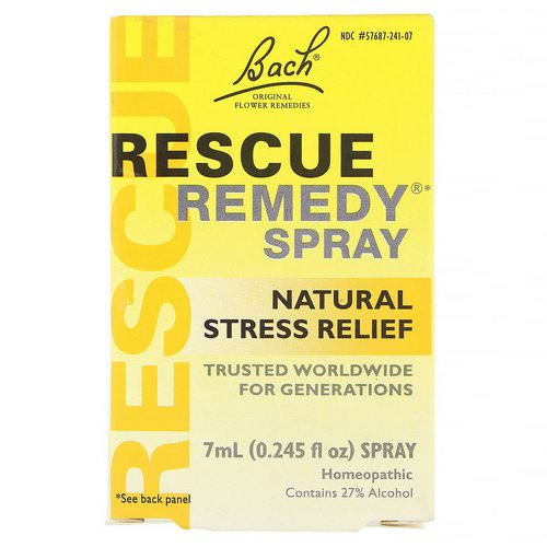 Bach, Original Flower Remedies, Rescue Remedy, Natural Stress Relief Spray, 0.245 fl oz (7 ml) Review