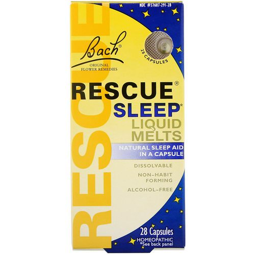 Bach, Original Flower Remedies, Rescue Sleep Liquid Melts, 28 Capsules Review