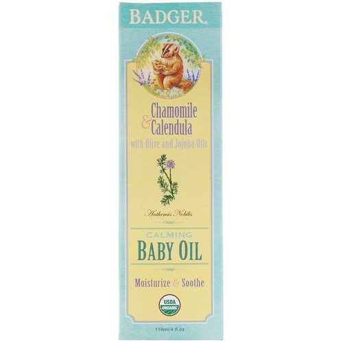 Badger Company, Calming Baby Oil, Chamomile & Calendula, 4 fl oz (118 ml) Review