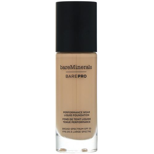 Bare Minerals, BAREPRO, Performance Wear, Liquid Foundation, SPF 20, Golden Ivory 08, 1 fl oz (30 ml) Review