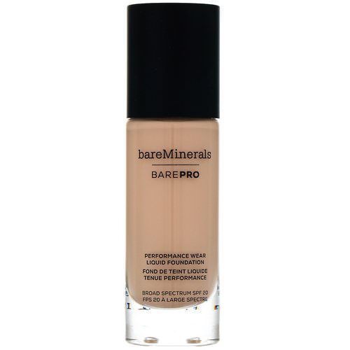 Bare Minerals, BAREPRO, Performance Wear, Liquid Foundation, SPF 20, Sateen 05, 1 fl oz (30 ml) Review