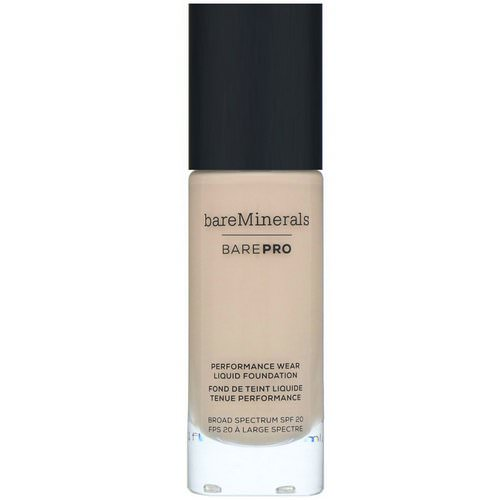 Bare Minerals, BAREPRO, Performance Wear, Liquid Foundation, SPF 20, Warm Natural 12, 1 fl oz (30 ml) Review