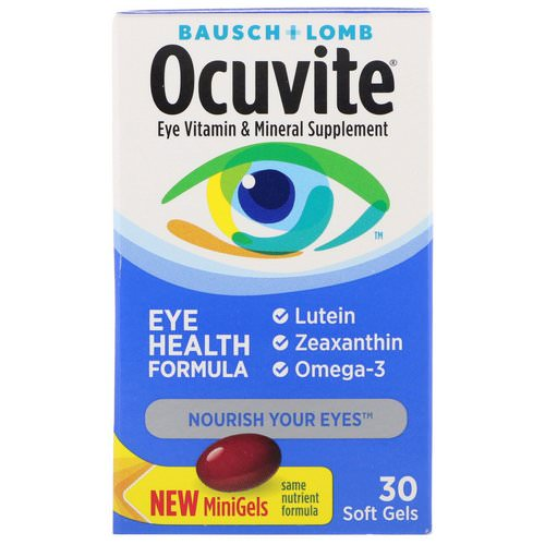 Bausch & Lomb, Ocuvite, Eye Health Formula, 30 Soft Gels Review