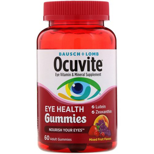 Bausch & Lomb, Ocuvite, Eye Health Gummies, Mixed Fruit Flavors, 60 Adult Gummies Review