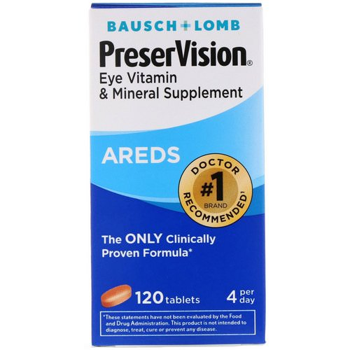 Bausch & Lomb, PreserVision, AREDS, 120 Tablets Review