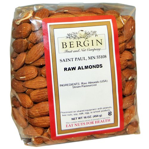 Bergin Fruit and Nut Company, Raw Almonds, 16 oz (454 g) Review