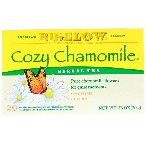 Bigelow, Cozy Chamomile Herb Tea, Caffeine Free, 20 Tea Bags, .73 oz (20 g) Review